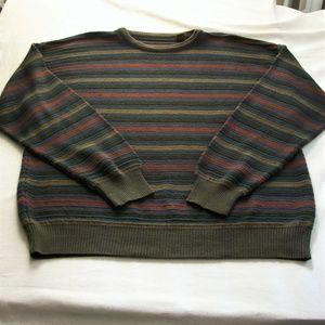 Vintage Italian Made Wool Blend Crew Neck Sweater